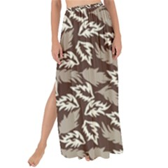 Dried Leaves Grey White Camuflage Summer Maxi Chiffon Tie Up Sarong