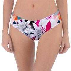 Flower Graphic Pattern Floral Reversible Classic Bikini Bottoms