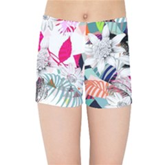 Flower Graphic Pattern Floral Kids Sports Shorts