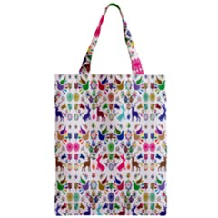 Birds Fish Flowers Floral Star Blue White Sexy Animals Beauty Rainbow Pink Purple Blue Green Orange Zipper Classic Tote Bag by Mariart