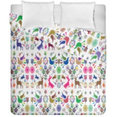 Birds Fish Flowers Floral Star Blue White Sexy Animals Beauty Rainbow Pink Purple Blue Green Orange Duvet Cover Double Side (california King Size)