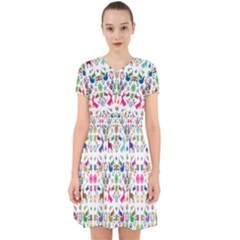 Birds Fish Flowers Floral Star Blue White Sexy Animals Beauty Rainbow Pink Purple Blue Green Orange Adorable In Chiffon Dress