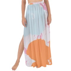 Flower Sunflower Floral Pink Orange Beauty Blue Yellow Maxi Chiffon Tie Up Sarong