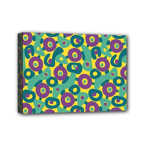 Discrete State Turing Pattern Polka Dots Green Purple Yellow Rainbow Sexy Beauty Mini Canvas 7  X 5