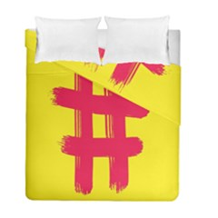 Fun Ain t Gone Fence Sign Red Yellow Flag Duvet Cover Double Side (full/ Double Size)