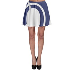 Garamond Blue White Wave Chevron Skater Skirt by Mariart