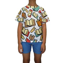 Friends Library Lobby Book Sale Kids  Short Sleeve Swimwear by Mariart