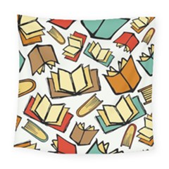 Friends Library Lobby Book Sale Square Tapestry (large)