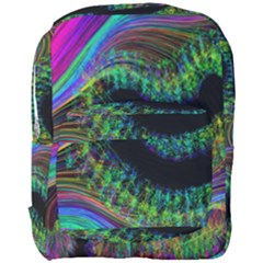 Aurora Wave Colorful Space Line Light Neon Visual Cortex Plate Full Print Backpack