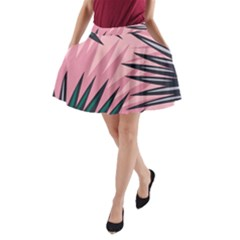 Graciela Detail Petticoat Palm Pink Green A Line Pocket Skirt by Mariart