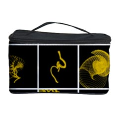 Grasshopper Rhino Spirograph Beautiful Fabulous Cosmetic Storage Case by Mariart