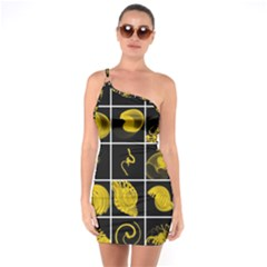Grasshopper Rhino Spirograph Beautiful Fabulous One Soulder Bodycon Dress by Mariart