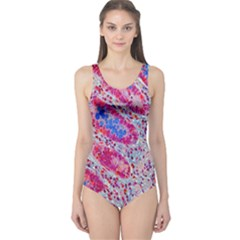 Histology Inc Histo Logistics Incorporated Alcian Blue One Piece Swimsuit by Mariart