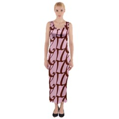 Letter Font Zapfino Appear Fitted Maxi Dress by Mariart