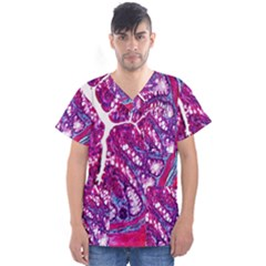 Histology Inc Histo Logistics Incorporated Masson s Trichrome Three Colour Staining Men s V Neck Scrub Top