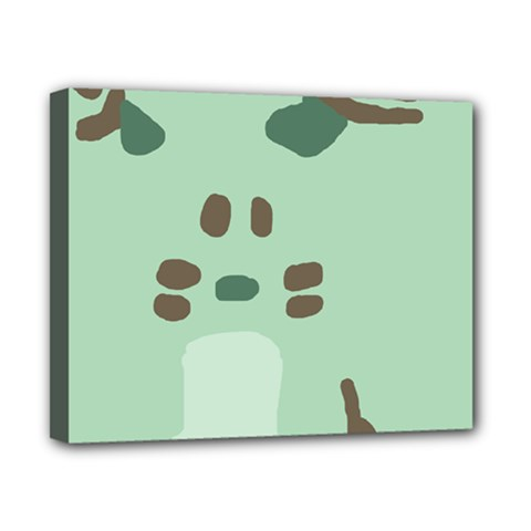Lineless Background For Minty Wildlife Monster Canvas 10  X 8  by Mariart