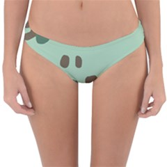 Lineless Background For Minty Wildlife Monster Reversible Hipster Bikini Bottoms