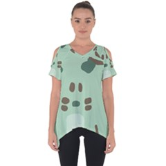 Lineless Background For Minty Wildlife Monster Cut Out Side Drop Tee