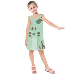 Lineless Background For Minty Wildlife Monster Kids  Sleeveless Dress by Mariart