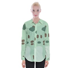 Lineless Background For Minty Wildlife Monster Womens Long Sleeve Shirt