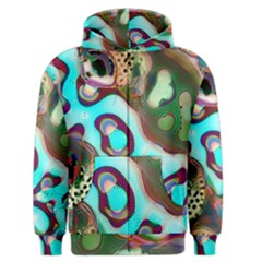 Multiscale Turing Pattern Recursive Coupled Stone Rainbow Men s Zipper Hoodie by Mariart