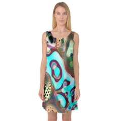 Multiscale Turing Pattern Recursive Coupled Stone Rainbow Sleeveless Satin Nightdress by Mariart