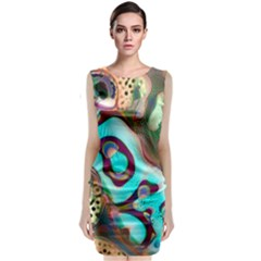 Multiscale Turing Pattern Recursive Coupled Stone Rainbow Sleeveless Velvet Midi Dress by Mariart