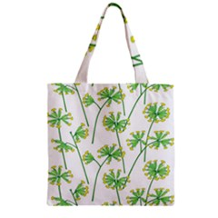 Marimekko Fabric Flower Floral Leaf Zipper Grocery Tote Bag by Mariart