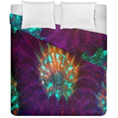 Live Green Brain Goniastrea Underwater Corals Consist Small Duvet Cover Double Side (california King Size)