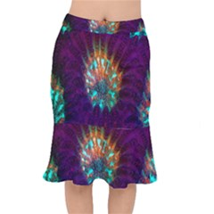 Live Green Brain Goniastrea Underwater Corals Consist Small Mermaid Skirt by Mariart