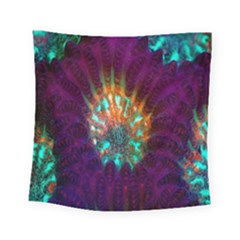 Live Green Brain Goniastrea Underwater Corals Consist Small Square Tapestry (small) by Mariart