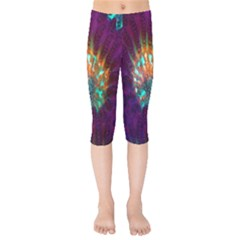Live Green Brain Goniastrea Underwater Corals Consist Small Kids  Capri Leggings  by Mariart