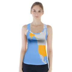 Map Transform World Racer Back Sports Top