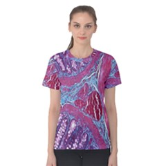 Natural Stone Red Blue Space Explore Medical Illustration Alternative Women s Cotton Tee by Mariart