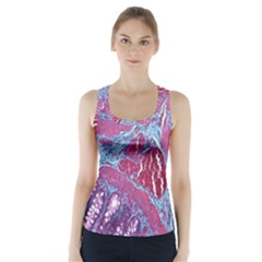 Natural Stone Red Blue Space Explore Medical Illustration Alternative Racer Back Sports Top by Mariart