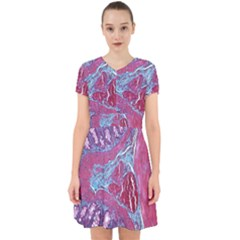Natural Stone Red Blue Space Explore Medical Illustration Alternative Adorable In Chiffon Dress by Mariart