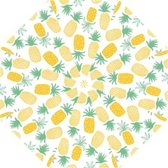 Pineapple Fruite Seamless Pattern Hook Handle Umbrellas (small) by Mariart
