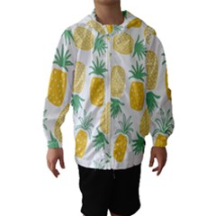 Pineapple Fruite Seamless Pattern Hooded Wind Breaker (kids)