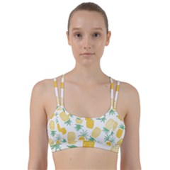 Pineapple Fruite Seamless Pattern Line Them Up Sports Bra