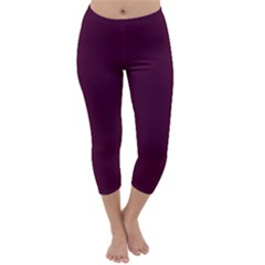 Black Cherry Capri Winter Leggings  by SimplyColor