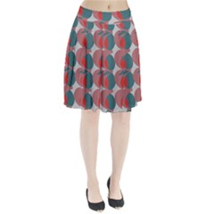 Pink Red Grey Three Art Pleated Skirt by Mariart