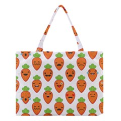 Seamless Background Carrots Emotions Illustration Face Smile Cry Cute Orange Medium Tote Bag by Mariart