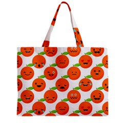 Seamless Background Orange Emotions Illustration Face Smile  Mask Fruits Zipper Mini Tote Bag by Mariart