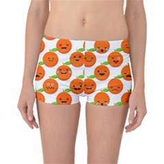 Seamless Background Orange Emotions Illustration Face Smile  Mask Fruits Boyleg Bikini Bottoms by Mariart