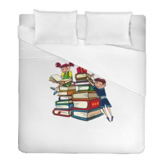 Back To School Duvet Cover (full/ Double Size) by Valentinaart