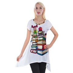 Back To School Short Sleeve Side Drop Tunic by Valentinaart
