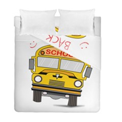 Back To School   School Bus Duvet Cover Double Side (full/ Double Size) by Valentinaart