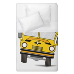 Back To School   School Bus Duvet Cover (single Size) by Valentinaart