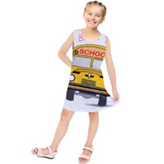 Back To School   School Bus Kids  Tunic Dress by Valentinaart