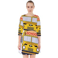 Back To School - School Bus Smock Dress